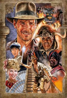 Movie Posters Discover Indiana Jones and the Temple of Doom Costume Indiana Jones, Indiana Jones Films, Doom Movie, Harison Ford, Indiana Evans, Bon Film, Art Vintage, Adventure Movies, Horror Movie Posters