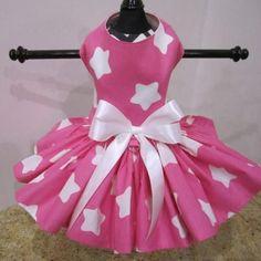 Hot Pink With White Stars Dog Dress – Bark Label