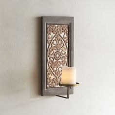 Gold Embossed Candle Holder Wall Sconce | Pier 1 Imports