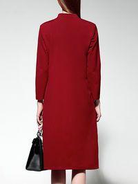 Painted Slit Cotton-blend Midi Dress