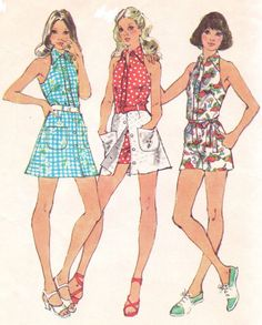 1970s Simplicity Sewing Pattern 5688 Womens Halter by CloesCloset, $12.00