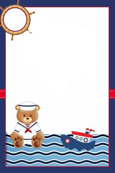 Baby Shower Themes, Baby Boy Shower, Baby Showers Marinero, Sailor Baby Showers, Birthday Party Background, Sailor Theme, Baby Invitations, Ticket Invitation, Baby Boy Cards