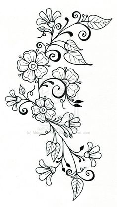 Items similar to tattoo design 8 on Etsy – hand embroidery Doodle Drawings, Easy Drawings, Doodle Art, Tattoo Drawings, Tattoo Art, Embroidery Flowers Pattern, Hand Embroidery Designs, Embroidery Stitches, Pattern Flower