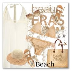 """""""Sun's Out: Beach Day"""" by andrejae ❤ liked on Polyvore featuring White Stuff, Accessorize, Banana Moon, Free People, Linda Farrow, beachday, polyvoreeditorial and polyvorecontest"""