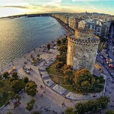 The White Tower - Thessaloniki Macedonia Greece, Athens Greece, Greece Thessaloniki, Beautiful Islands, Beautiful Places, Places Around The World, Around The Worlds, Paradise On Earth, Vacation Places