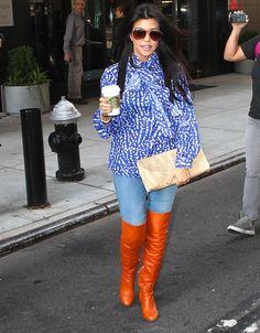 Kourtney Kardashian Polka Dots Fashion Trend | Kourtney Kardashian