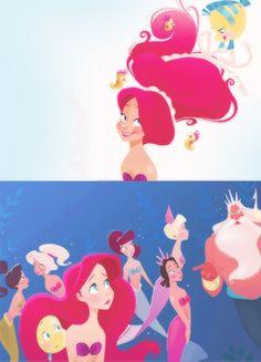 disney edit the little mermaid ariel books brittney lee Part of Their World Disney Princess Art, Disney Nerd, Disney Fan Art, Disney Girls, Estilo Disney, Arte Disney, Disney Magic, Disney Songs, Disney Movies