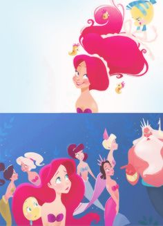 Daughters of Triton. You don't see Ariel's sisters very often!