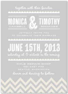 Wedding Invitations!