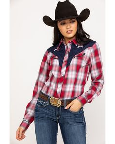 Cute Cowgirl Outfits, Rodeo Outfits, Country Girls Outfits, Country Girl Style, Western Outfits, Cute Outfits, Western Wear, Country Shirts, Western Shirts