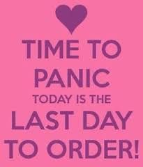 No need to panic! Well, maybe! Order today!