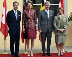 Grand Duke Henri of Luxembourg, Queen Mathilde of Belgium, King Philippe of Belgium and Grand Duchess Maria-Teresa of Luxembourg