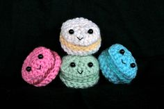 since baking macarons seems way too intimidating, maybe i will just crochet some instead!