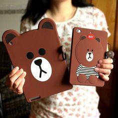 Cute Brown Bear Toy iPad Mini 4 iPad mini 2 iPad pro iPad air 2 Cartoon Soft Case with cool bear cartoon design, well protection of your iPad mini. Cute Ipad Cases, Ipad Mini Cases, Ipad Mini 3, Cute Cases, Teddy Bear Toys, Bear Cartoon, Cartoon Design, Ipad Air 2, Brown Bear