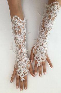 This item is unavailable Bride Gloves, Wedding Gloves, Lace Gloves, Fingerless Gloves, Ivory Wedding, Tulle Wedding, Lace Weddings, Bridal Lace, Wedding Veils