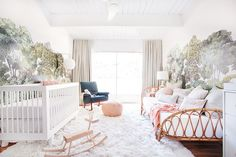 Stylish nursery - Emily Henderson A Baby Girl's Blush and Green Nursery