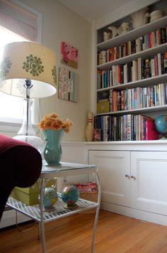 simple bookshelves for the alcoves