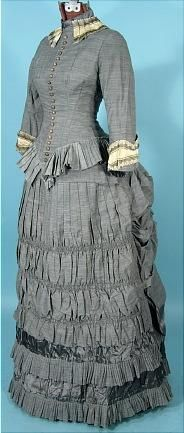 Early 1880s Gray Day Dress