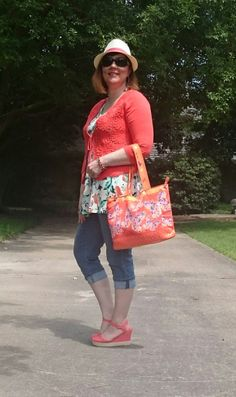 Orange Delight- Summer Outfit, Over 40 fashion blogger