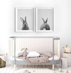 PRINT #65 - Peekaboo Bunny Rabbit Tail Wall Art Print - Nursery Woodland Decor, Baby Animal Poster, Printable Digital Download. Contemporary art for your home and office. Our digital files are printable at 20+ sizes. Download your files, print at home, at your local print shop, or upload