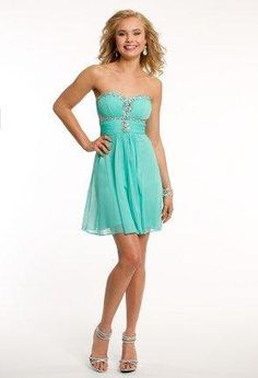Strapless Mesh Beaded Dress from Camille La Vie and Group USA