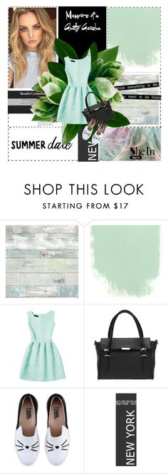"""""""Untitled #249"""" by cattrina-k ❤ liked on Polyvore featuring Lori's Shoes, WallPops and Karl Lagerfeld"""