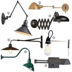 Bedside Essentials: Warm Industrial Wall Lamps