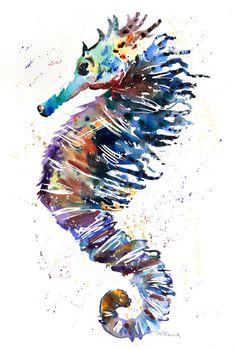 Serenity Seahorse by Karen Thomas
