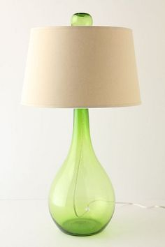 I have a crush over this lamp. I think it's the recycled glass..