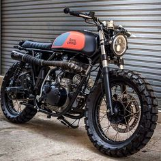 Awesome Royal Enfield Scrambler ready to tear up the dirt by K-Speed Enfield Motorcycle, Enfield Bike, Tracker Motorcycle, Retro Motorcycle, Women Motorcycle, Motorcycle Quotes, Cafe Racer Dreams, Cafe Racer Bikes, Cafe Racer Motorcycle
