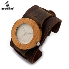 Cheap homme, Buy Quality homme montre Directly from China Suppliers:BOBO BIRD Casual Bamboo Quartz Women Wooden Watches Casual Montre Homme with Leather Strap in Gift Box Wooden Watches For Men, Mens Gear, Wood Watch, Quartz, Mens Fashion, Gifts, Rock Roll, Bird, Wristwatches