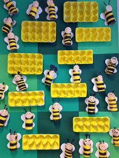 Kuvis ja askartelu 2 - www.opeope.fi Fun Crafts For Kids, Summer Crafts, Hobbies And Crafts, Art For Kids, Arts And Crafts, Bee Crafts, Summer Preschool Activities, Bee Activities, Preschool Art