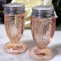 collectionspink depress, peppers, pink glass, glass salt, glass collect, pink depression glass, depress shaker, depress glass, pepper shaker