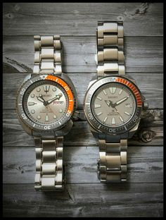 Seiko Divers: Dawn Grey - The Samurai and the Turtle Seiko Divers: Dawn Grey - The Samurai and the Turtle Seiko Samurai, Seiko Mod, Seiko Diver, Citizen Watch, Rose Gold Watches, Seiko Watches, Mother Pearl, Quartz Watch, Dawn