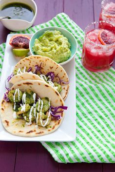 Shrimp Tacos with Green Chile Adobo  –  Annie's Eats
