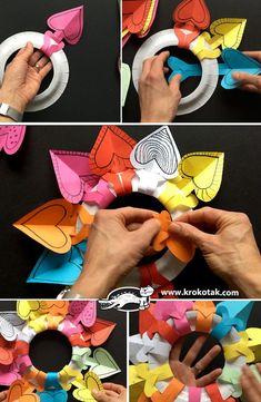 Easy no-glue heart wreath