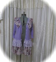 Shabby Purple Sweater tattered shabby chic by TatteredDelicates, $70.00