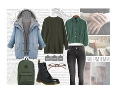 """""""#41"""" by kgarden ❤ liked on Polyvore featuring Edition, Oris, By Emily, Wildfox, Toast, Dr. Martens and Herschel Supply Co."""