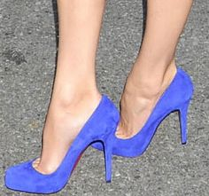 Electric blue Louboutins- I'm pretty sure I need these:)