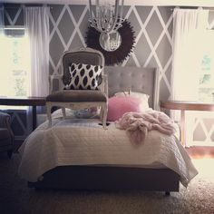 """Nester: """"My number one favorite decorating secret?  Move stuff around.  Shop the house and try it in a different spot.  The process isn't usually pretty, or understandable (good thing my husband didn't walk in while I had the chair on the bed). But it can lead to a fun fresh room for zero dollars."""" Really need to do this more..."""