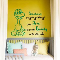 Wall Elephant Name Decal Initial Custom Personalized Girls Name - Custom vinyl wall decals dinosaur