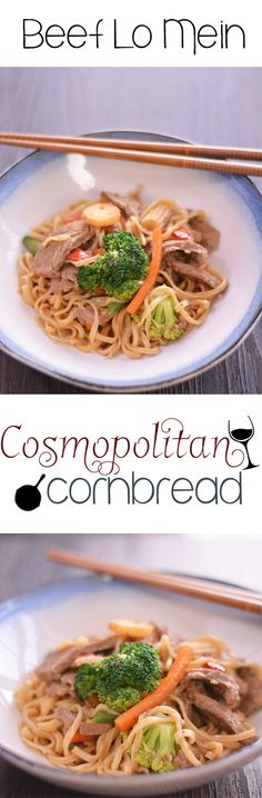 Homemade Beef Lo Mein from Cosmopolitan Cornbread | #SundaySupper