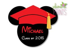 Graduation Mickey Mouse Magnet Personalized for by plumeriaprints