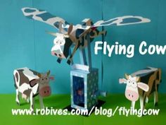 Flying Cow, a paper model - YouTube