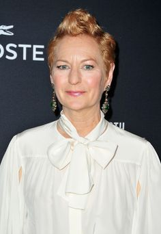 Love the faux mohawk...Costume designer Lou Eyrich attends the 16th Costume Designers Guild Awards
