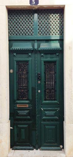 Green Wood Metal Door Lagos Portugal Metal Door Unique Doors Door Color