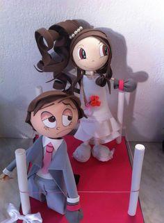 Les mariés... ...