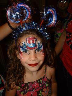 Pin by funnycheeks entertainment on holiday face painting. Face Painting Designs, Paint Designs, Body Painting, Fourth Of July Cakes, 4th Of July Celebration, July 4th, Cheek Art, Let Freedom Ring, Patriotic Decorations