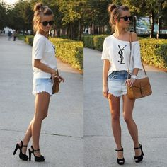 OMBRE SHORTS* (by Alexandra M) http://lookbook.nu/look/3628551-OMBRE-SHORTS