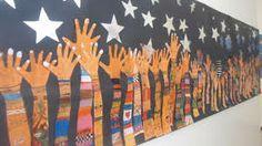 Billedresultat for murales con manos Group Art Projects, Art Therapy Projects, School Murals, Art School, Art Bulletin Boards, Art Corner, Collaborative Art, Art Lessons Elementary, Hand Art